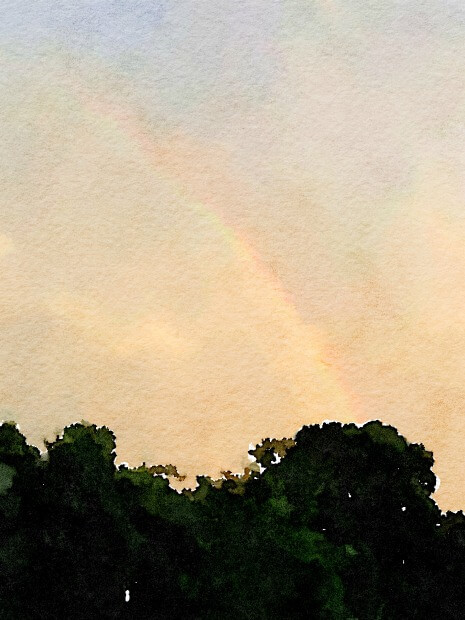 Rainbow - a reminder of hope.