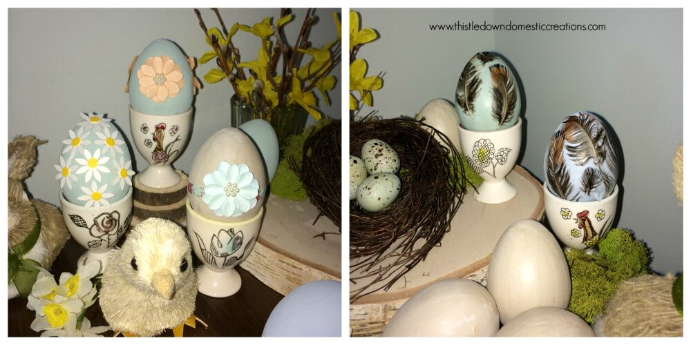 All the lovely paper mache eggs for your decor!