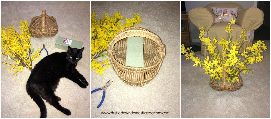 Creating the Forsythia Basket