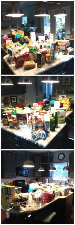 There was a lot of stuff in that pantry!