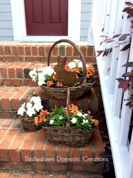 An Easy DIY Container Garden Using Baskets