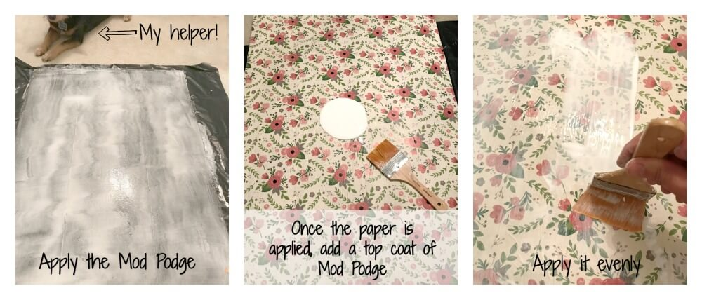 How to apply the Mod Podge.