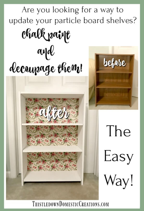 How To Easily Update Used Particle Board Shelves