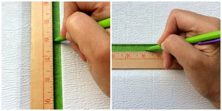 Measure and mark carefully