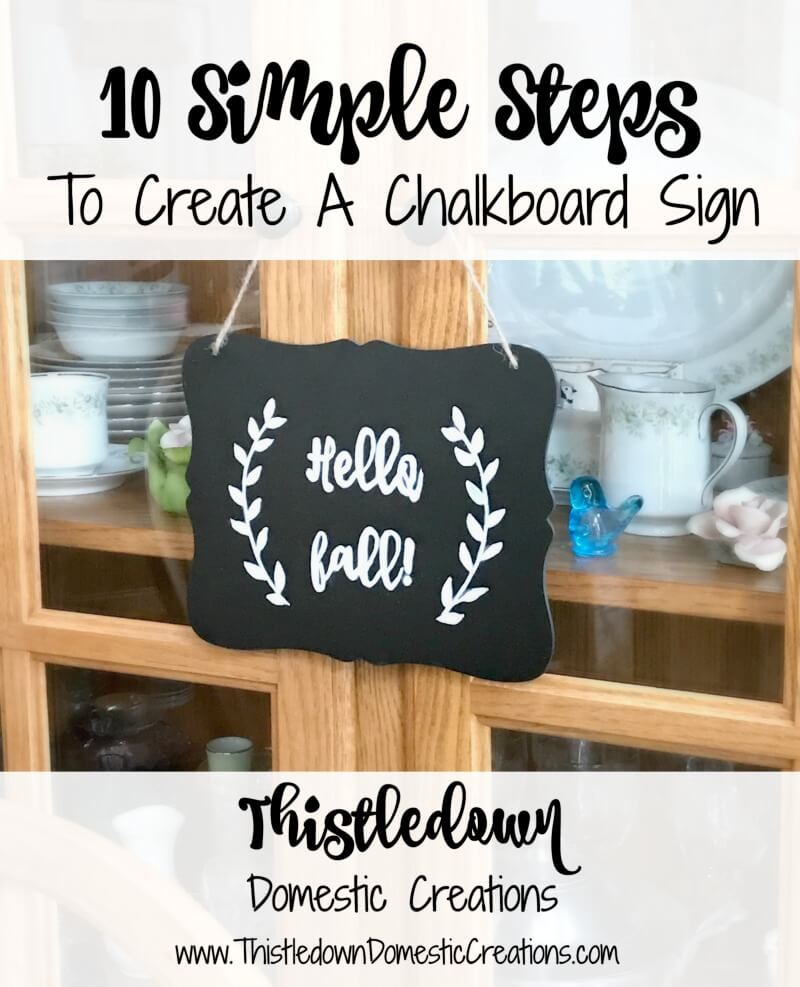 10 Simple Steps To Create A Chalkboard Sign