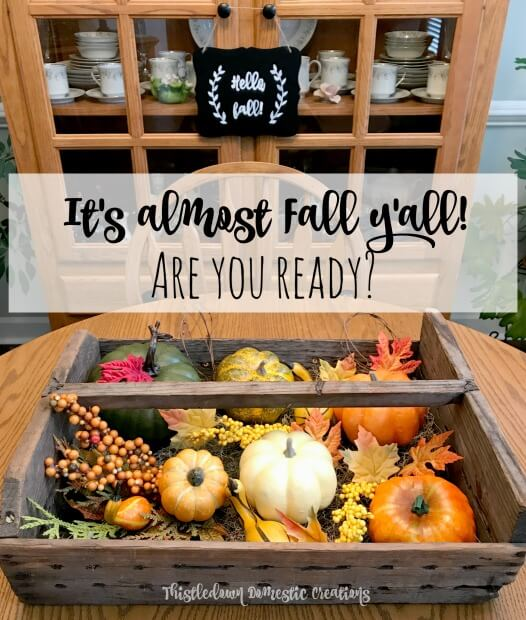It's almost fall y'all!  Are you ready?