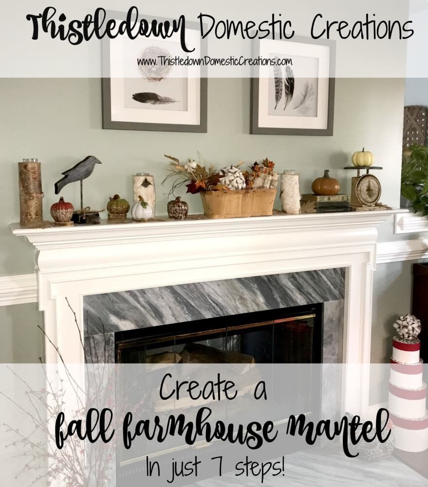 Create a Fall Farmhouse Mantel in Just 7 Steps!