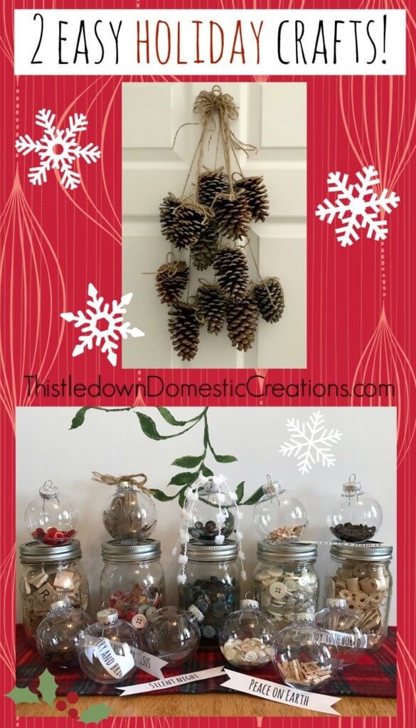 2 Easy Holiday Crafts Pin