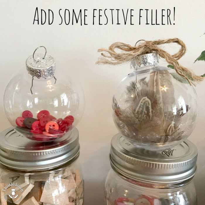 Easy to fill ornaments