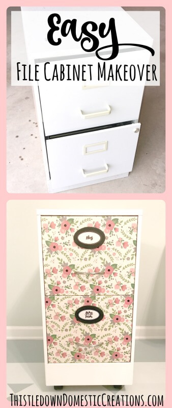 Easy File Cabinet Makeover