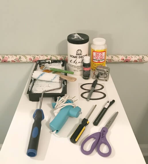 supplies for file cabinet makeover