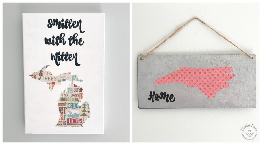 State Map Wall Art is so easy to do! Plus these would make