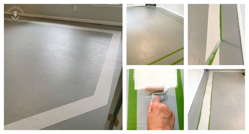 Painting the border the subfloor